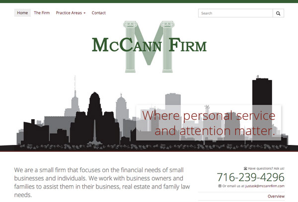 McCann Firm Website Thumbnail
